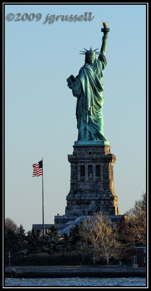 Statue of Liberty - rear view