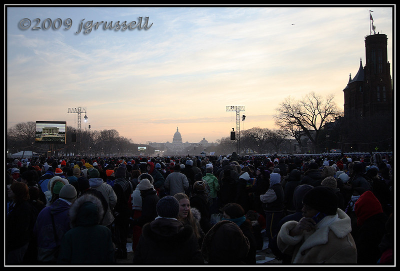 National Mall as the sun rose