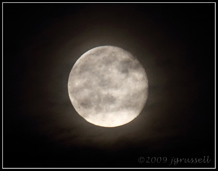 """""""There's a ring around the moon tonight,<br /> And a chill in the air..."""""""