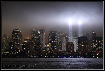 WTC Lights from Liberty State Park