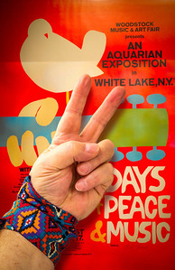 "Wednesday 23 April 2014: PEACEFUL  Three incredible days of peace, love and music, sex, drugs and rock and roll. 150,000 people gathered in upstate New York to celebrate a generation. Never before and not since has such an event taken place without an overlying pale of chaos and discontent.  Today's theme is""Peaceful"" and to me, this gathering exemplifies the best that my generation had to offer. Who knows? Maybe most of them were stoned out of their skulls....but they were peaceful! :-)"