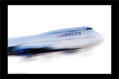 Delta 747 out of Narita, Japan. January 17, 2012.