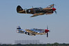 May 30 - Chris Baranaskas in the P-51 and Dan Dameo in the P-40 return from Jones Beach during the Memorial Day Weekend air show