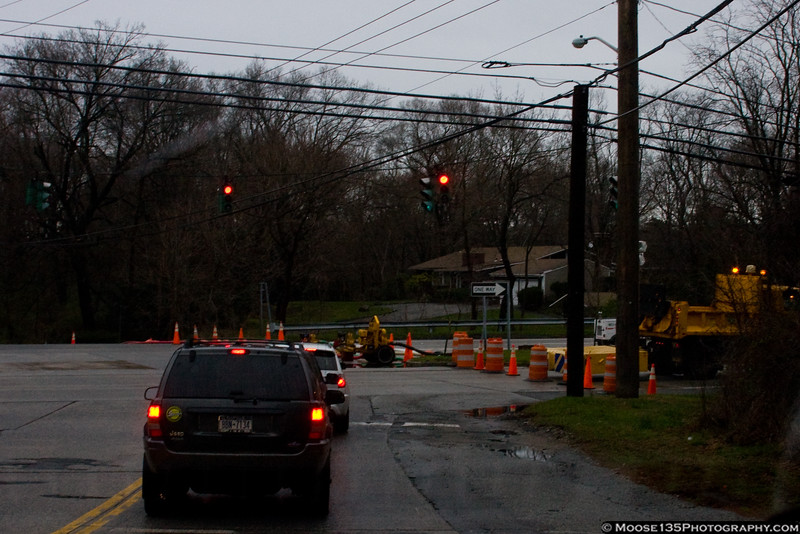 March 31 - Continued flooding rains closed Northern Boulevard in Syosset for several days.