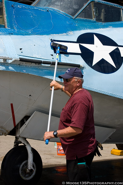 May 21 - Washing the Catalina before the Memorial Day Weekend air show