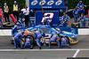 June 6 - The Penske crew give Kurt Busch quick service during the NASCAR race at Pocono Raceway.