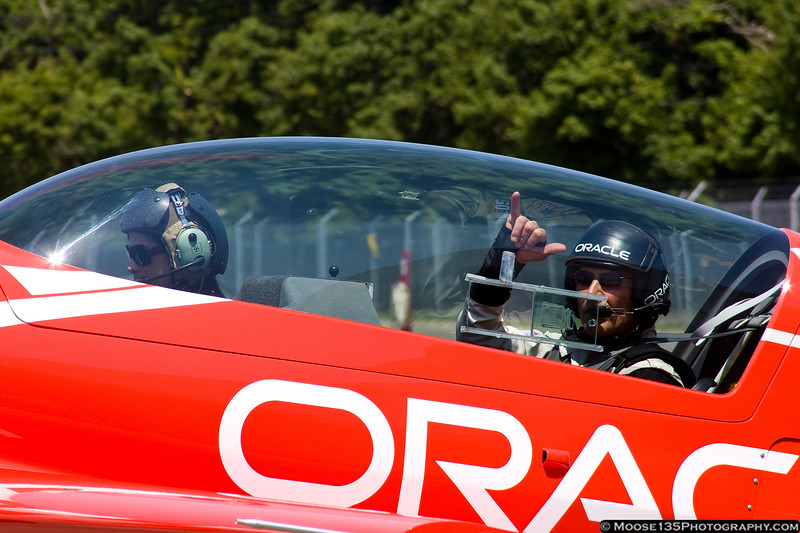 May 26 - Sean D. Tucker taking a local media member for a flight