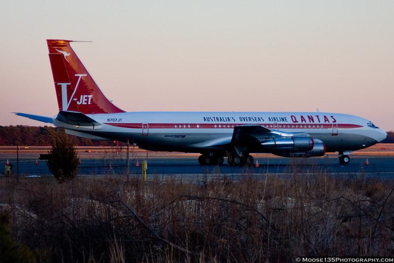 January 31 - John Travolta's 707 visits Long Island MacArthur Airport