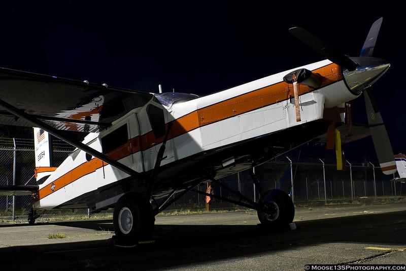 November 19 - US Army Pilatus UV-20 of the Black Daggers jump team at Republic Airport.