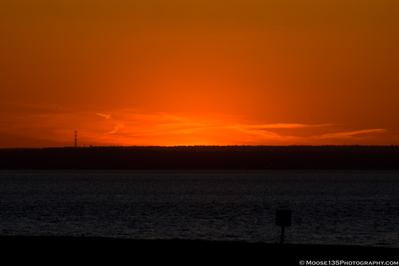 April 14 - A fiery sunset at Bayville