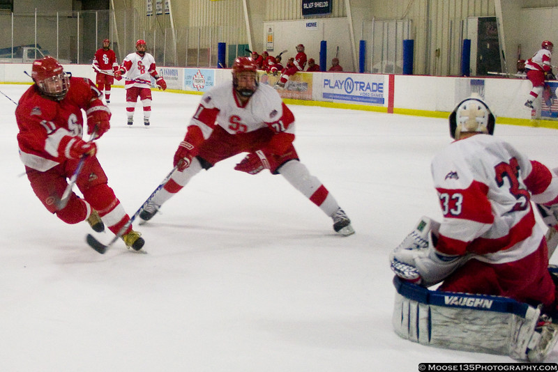 February 6 - After their weekend opponent was stranded in Pittsburgh due to a snowstorm, the SUNY Stony Brook Seawolves held an intra-squad scrimmage instead.