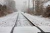 January 28 - Snow covered tracks in Oyster Bay