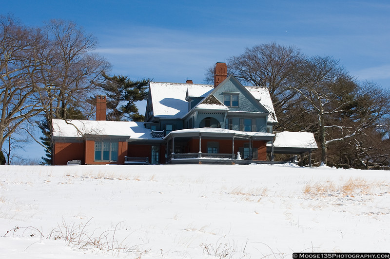 February 11 - One day after the big snow, Sagamore Hill wears a coat of white.