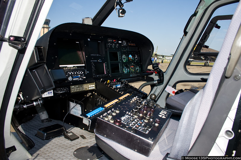 September 23 - Front office of the News12 helicopter, at the Republic Airport Career Day.