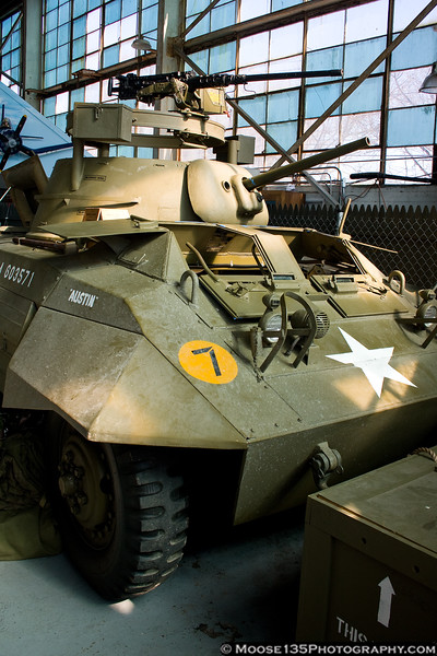 February 21 - Hiding in a corner, this M-8 Greyhound is the latest addition to the American Airpower Museum.