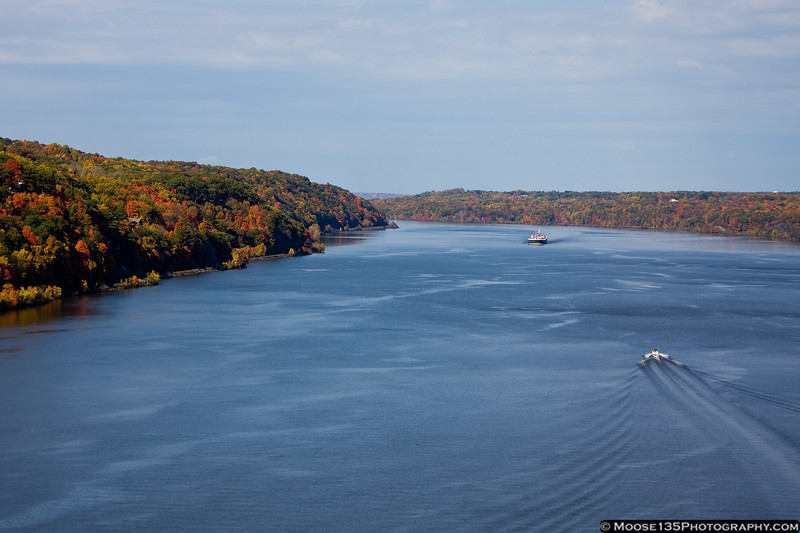 October 23 - A view of the river from the Walkway Over The Hudson.