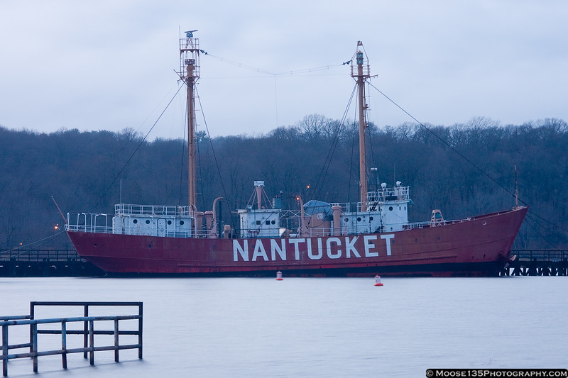 January 25 - Lightship Nantucket with a very high tide.