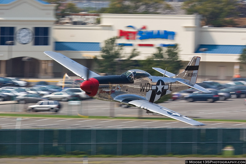 September 4 - Chris Baranaskas makes a low pass at the American Airpower Museum.