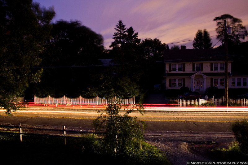 August 28 - Night falls after Hurricane Irene turned out the lights.