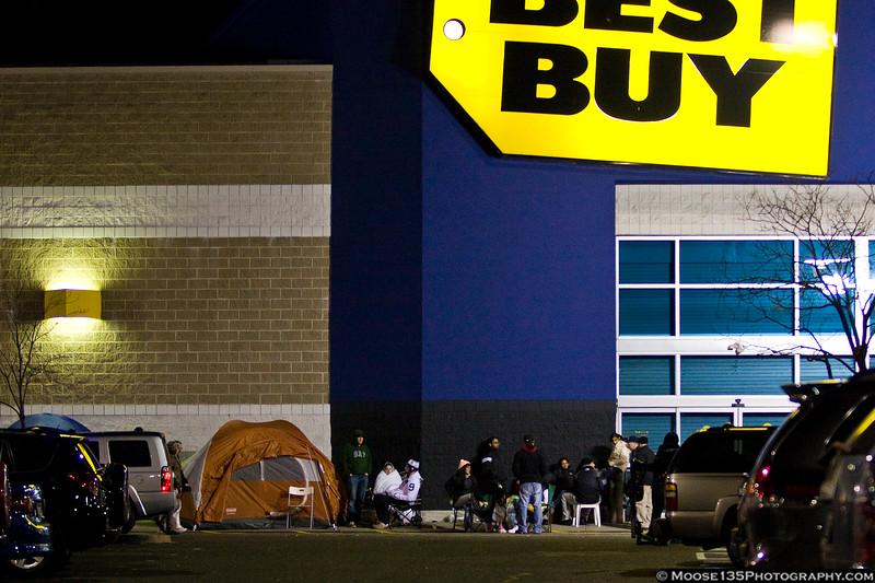 November 24 - Lined up for Black Friday sales.