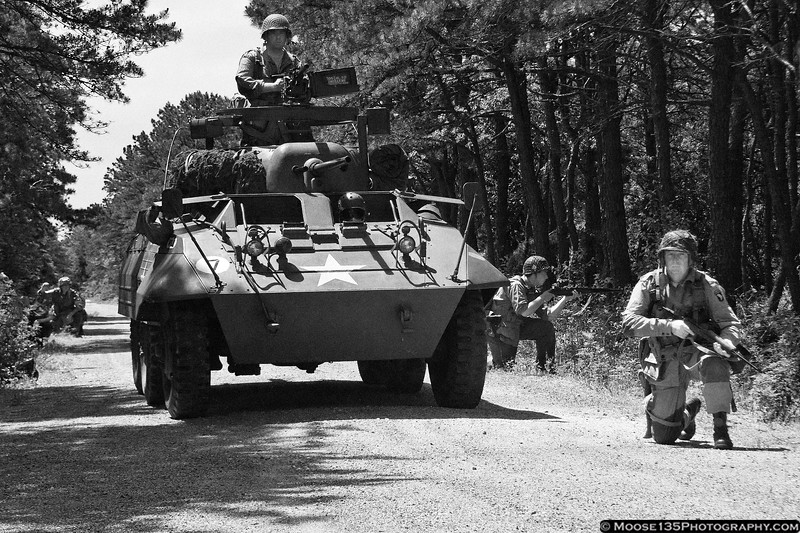 May 30 - Patrolling Breslau Gardens with the American Airpower Museum's Armored Division.