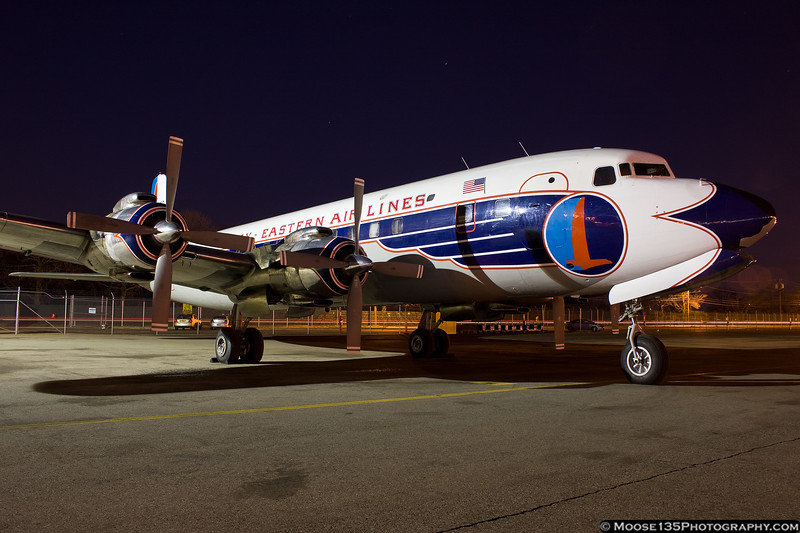 March 7 - Restored DC-7 airliner at the American Airpower Museum at Republic Airport. It will be used in the filming of a new television program.