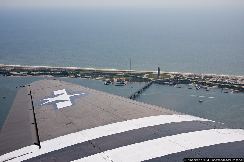 September 3 - Fire Island and Robert Moses State Park, as seen from the American Airpower Museum's C-47.