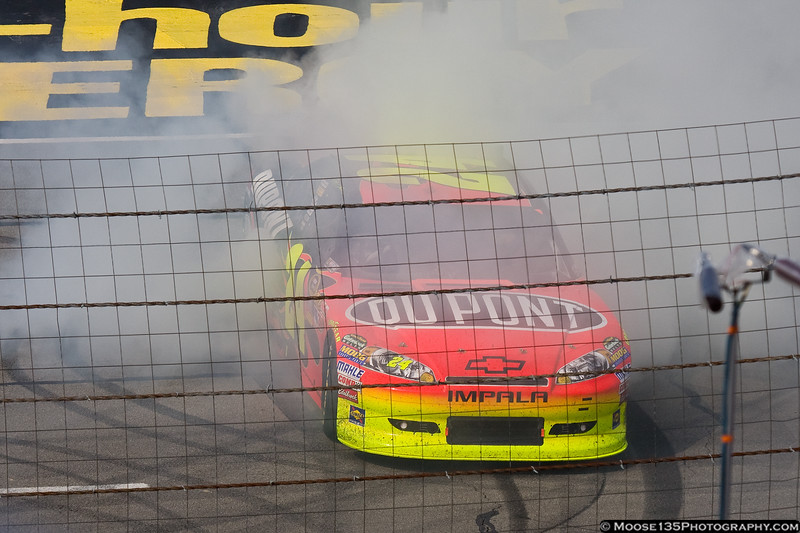 June 12 - Time to make the donuts. Jeff Gordon celebrates after winning at Pocono.