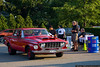 August 17 - A Mighty Mopar arrives at the Broadway Mall Car Show.