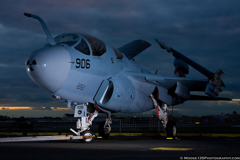 October 21 - Grumman EA-6B Prowler returns home for the last time.  As the US Navy retires the Prowler, this jet came back to Long Island on its final flight. Until a display site is prepared at the plant in Bethpage, she will remain at the American Airpower Museum.
