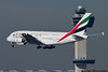 November 26 - Emirates Airbus A380 passes the tower while arriving at Kennedy Airport.