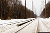 February 1 - It's hard to see the railroad for all the snow.