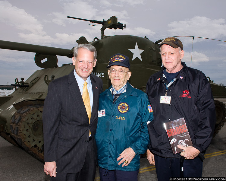 February 7 - Congressman Steve Israel with veterans at the American Airpower Museum.