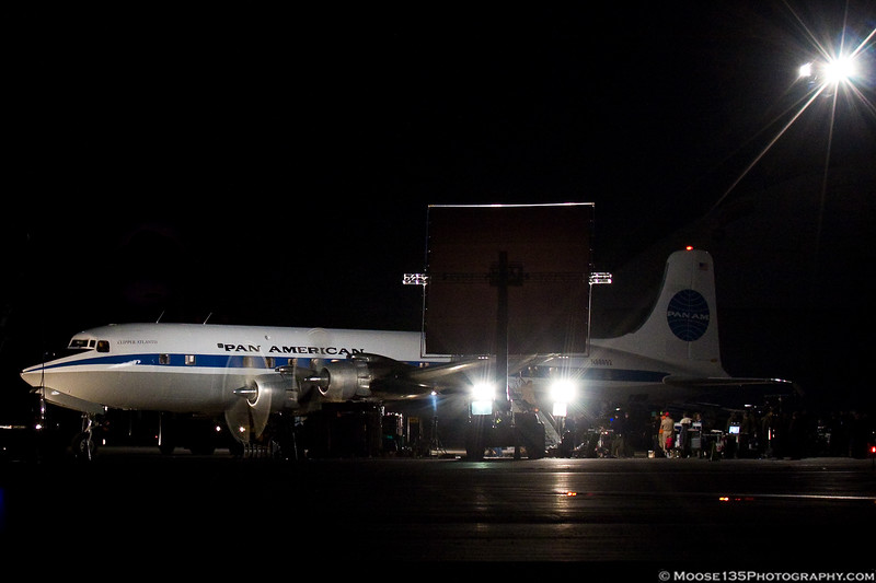 """March 18 - Filming is underway for the TV Pilot """"Pan Am""""."""