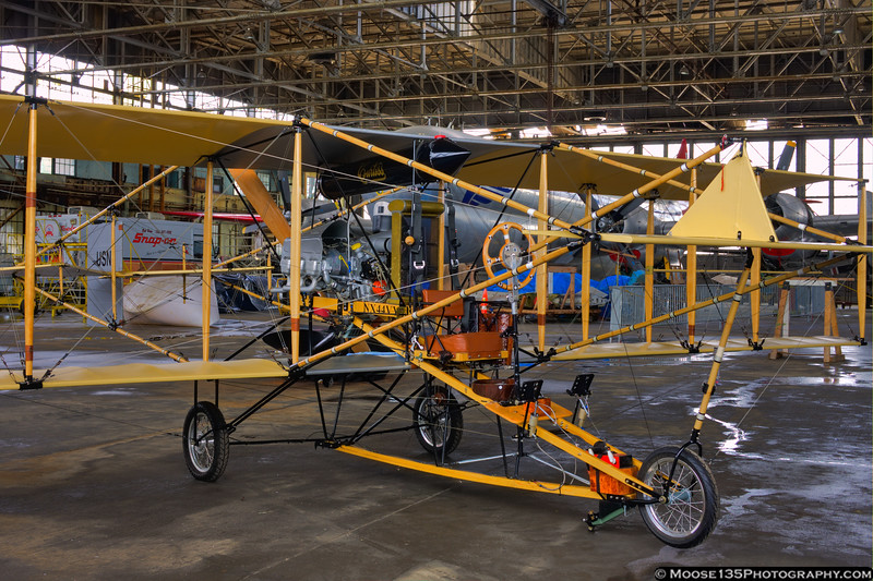 May 24 - 1911 Ely-Curtiss Pusher replica at Floyd Bennett Field for Fleet Week.  Aircraft is touring to celebrate the Centennial of Naval Aviation.