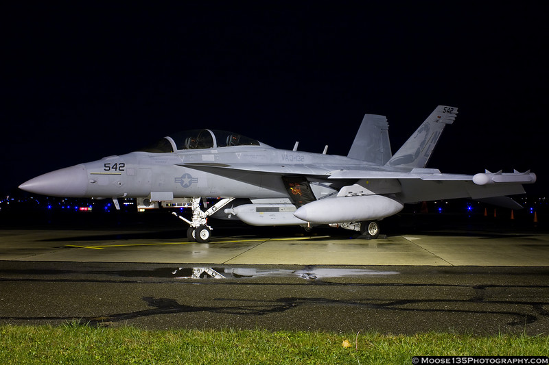 November 17 - A pair of EA-18G Growlers visited Republic Airport.