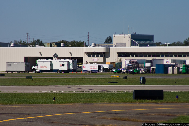 August 30 - FEMA and the Army Corps of Engineers staged relief efforts at Republic Airport following Hurricane Irene.