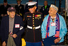 December 7 - Pearl Harbor Survivors Seymour Blutt (left) and Michael Montelione (right) with Paul Massi, USMC, at the American Airpower Museum, mark the 70th Anniversary of the attack.