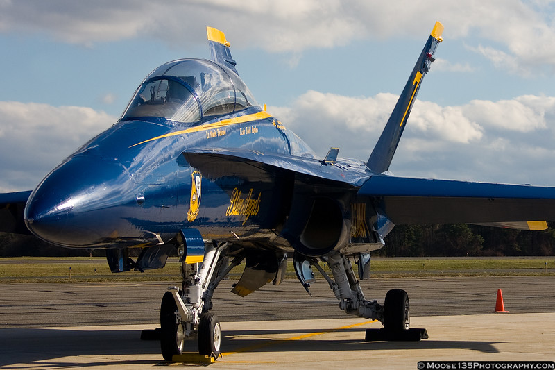 November 30 - Blue Angel 7 visits Republic Airport in preparation for the 2012 air show season.
