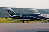 August 2 - The NASCAR Air Force arrives at Wilkes-Barre/Scranton International Airport for the Pennsylvania 400 at Pocono Raceway.  Joe Gibbs Racing's Canadair Challenger for driver Denny Hamlin.