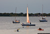July 10 - Sunset sailing on Oyster Bay.