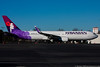 December 22 - An early Christmas present!  Hawaiian Airlines Boeing 767 visit, bringing the Oakland Raiders NFL team to play the Carolina Panthers.