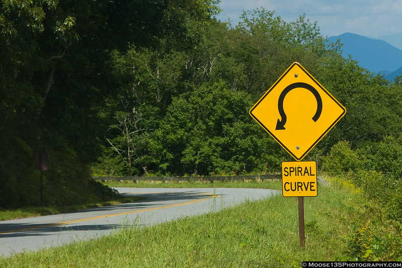 September 1 - Twisty roads and beautiful scenery are key features of the Blue Ridge Parkway.