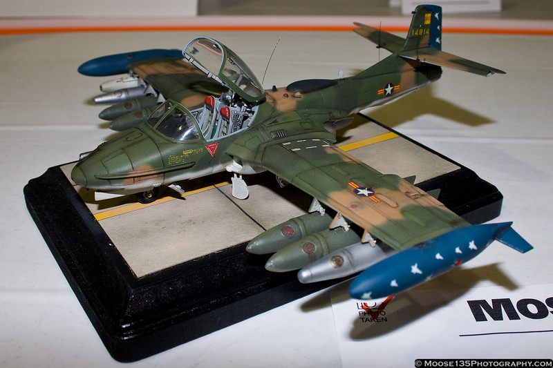 April 7 - A Tweet with an attitude. A-37 scale model at MoquitoCon 2012.