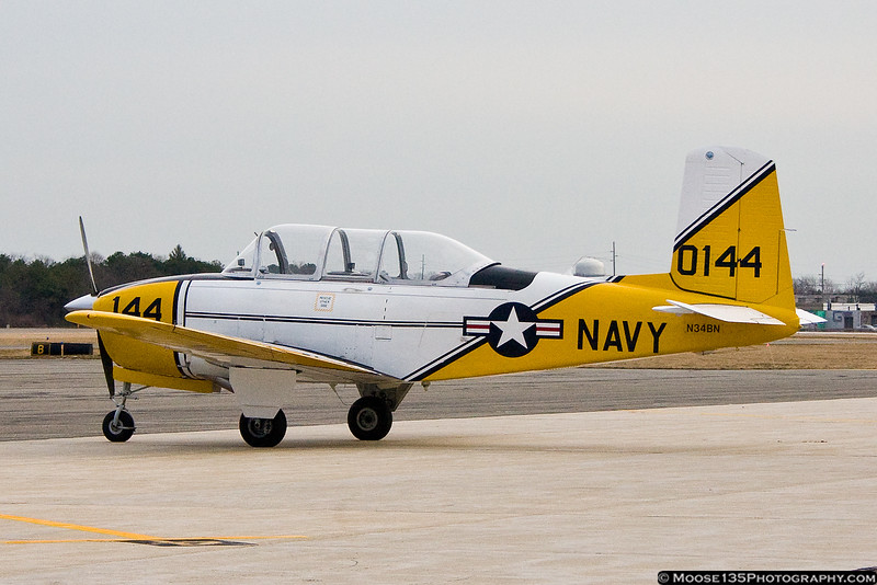 February 4 - Colorful T-34 at Republic Airport.
