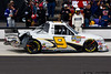 August 4 - That will leave a mark!  Ron Hornaday's truck with damage from a late race wreck at Pocono Raceway.
