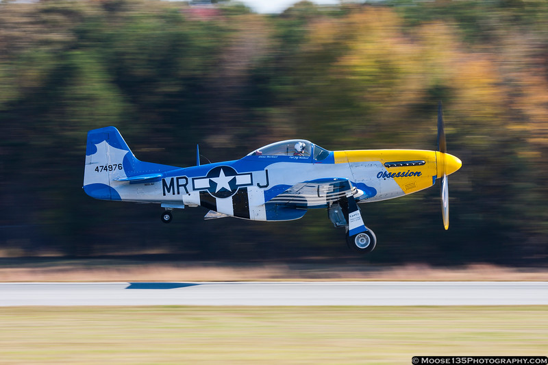 November 3 - Aptly named P-51 takes to the skies during the Warbirds over Monroe air show.