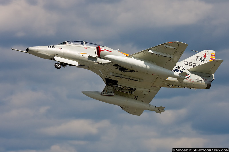 August 26 - A TA-4 Skyhawk was one of the featured participants in the Winston-Salem Air Show.