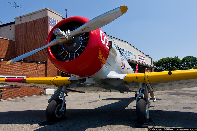 July 1 - A big fan helps beat the heat at the American Airpower Museum!