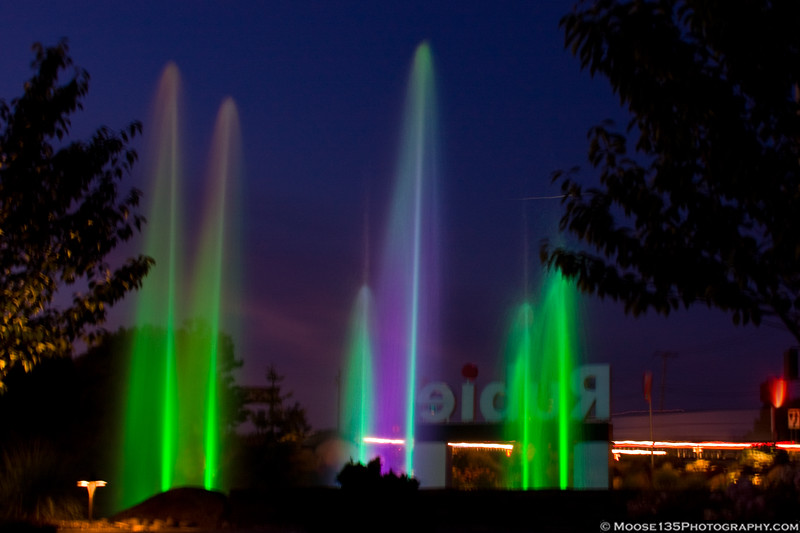 July 11 - Colorful fountain on Rt. 110 in Melville